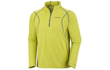 COLUMBIA Men&#039;s Bug Shield Sporty 1/2 Zip chartreuse/metal